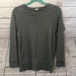 J. Crew Basic Gray Long Sleeve Shirt Size XS